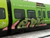 Danish s-train with graffiti