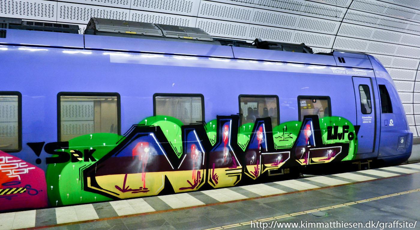 Vandalism mot tunnelbanetag