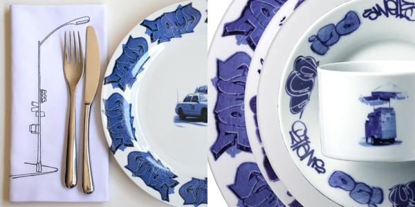 Lovegrove & repucci: new york delft tableware