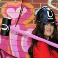 Kloe Kardashian against graffiti