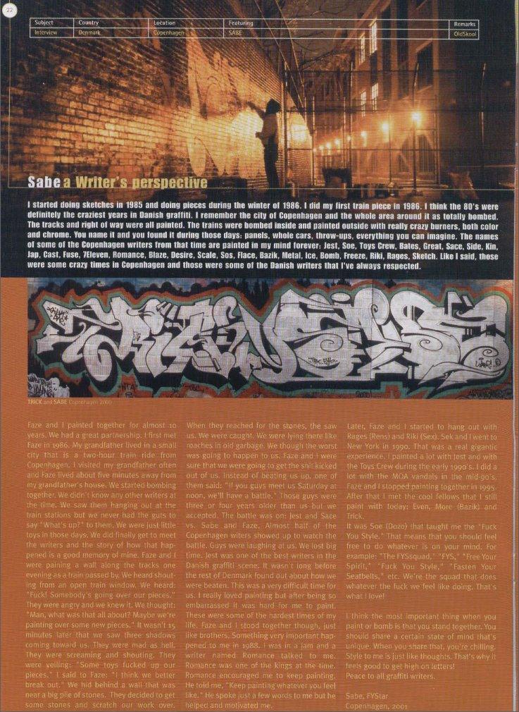 Sabe in Bomber #23, 2001