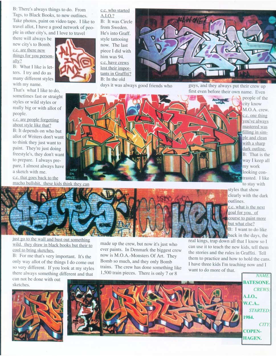 Can Control Graffiti Magazine 1996