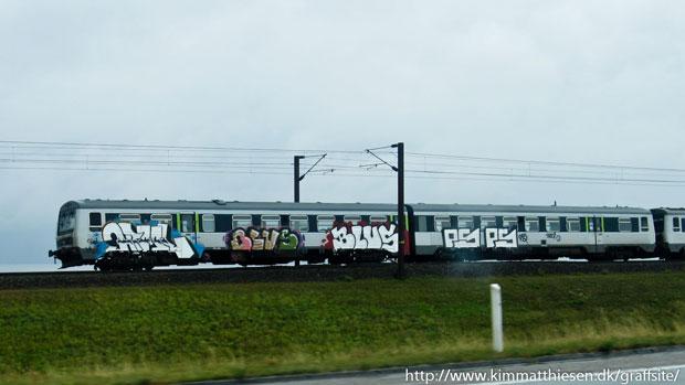 danish graffiti dsb-tog
