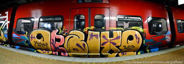 danish graffiti s-tog