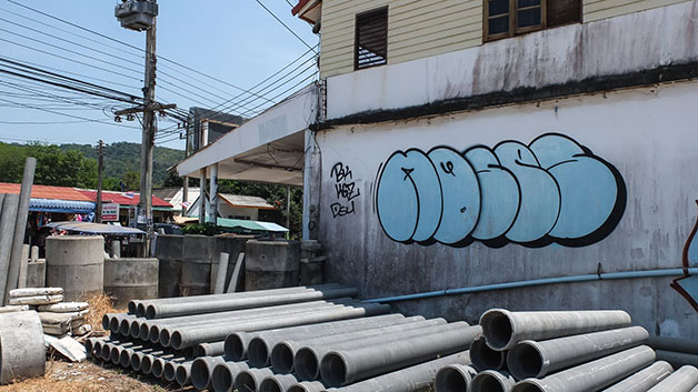 travel graffiti thailand