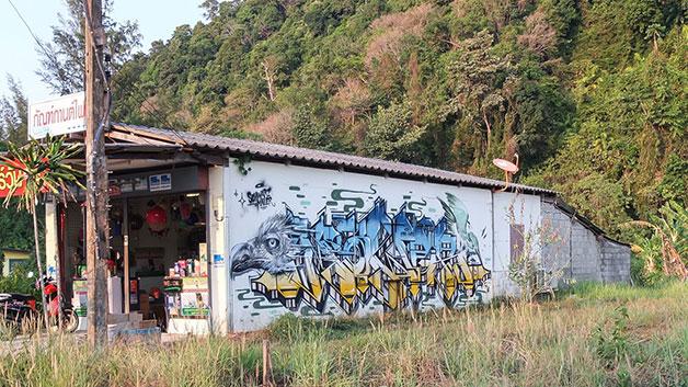 travel graffiti thailand