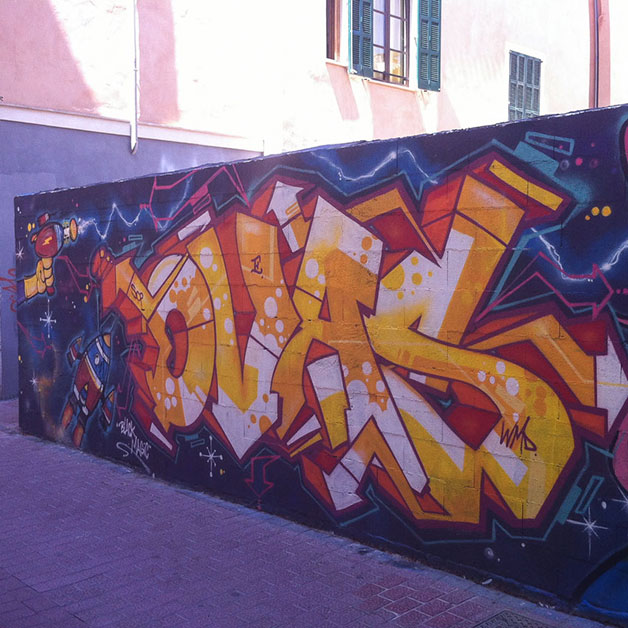 mallorca travel graffiti