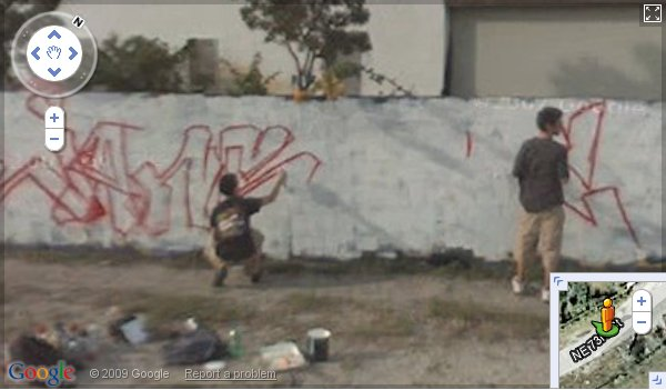 Graffiti artists in Miami on Google street view