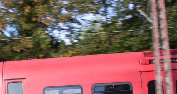 Powerline on train